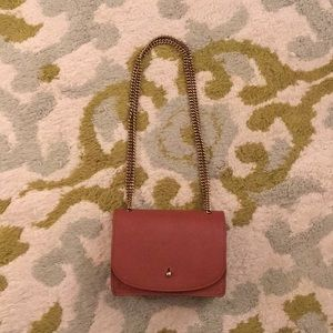 Madewell Brown Leather Chain Clutch / Crossbody